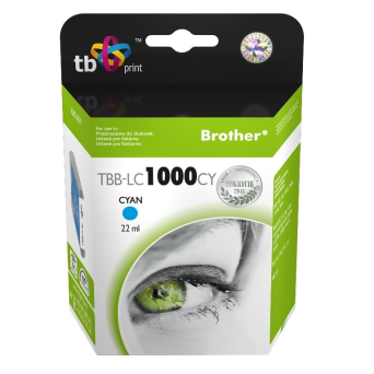 Tusz do Brother LC1000CY TBB-LC1000CY CY 100% nowy | 5901500500319