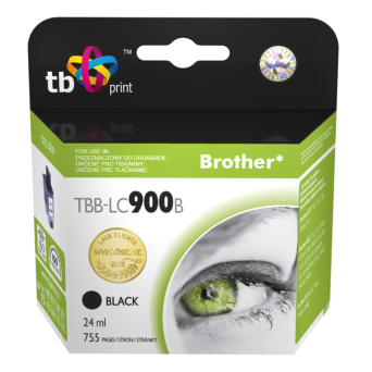 Tusz do Brother LC900 TBB-LC900B BK 100% nowy | 5901500500388