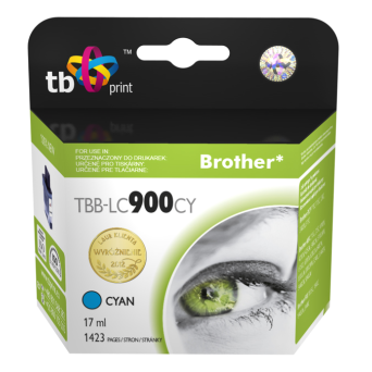 Tusz do Brother LC900 TBB-LC900CY CY 100% nowy | 5901500500395