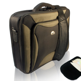 TORBA DO LAPTOPA PITBULL BLACK-OLIVE 17.3"